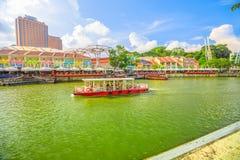 Clarke Quay Singapore fotografia royalty free