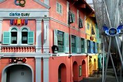 clarke quay Singapore obrazy royalty free