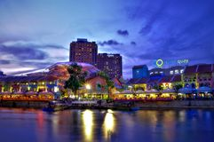 Clarke Quay, Singapore Royalty Free Stock Images