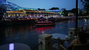Clarke Quay Singapore-bar stock video