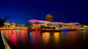 Clarke Quay Singapore Stock Photo