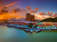 Clarke Quay Singapore Stock Photos
