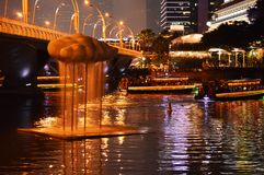 Clarke Quay and Singapore River Stock Images