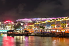 Clarke Quay Royalty Free Stock Image