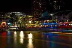 Clarke Quay, Singapour Photo stock