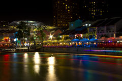 Clarke Quay, Singapur Stockfoto