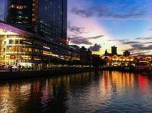 Clarke Quay Singapur Lizenzfreies Stockfoto