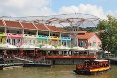 Clarke Quay, Singapur - Obrazy Stock