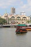 Clarke Quay, Singapur - Obraz Royalty Free