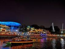 Clarke Quay, Singapur stockfotografie