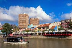 Clarke Quay, Singapura Fotografia de Stock