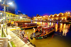 clarkekajflod singapore Royaltyfri Foto