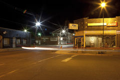 Clarkesdale at night. Clarkesdale town at night, Mississippi Stock Photo