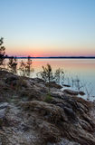 Clarks kulle sjö, misteldelstatspark Georgia royaltyfri bild