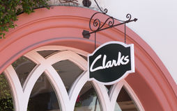 Clarks Retail Store Exterior and Sign Stock Photos