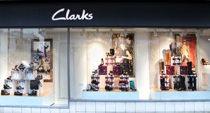 Clarks retail window Stock Image