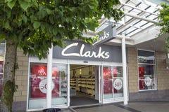 Clarks-Schuh-Shop Stockbild