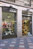 Clarks shoe store Stock Photos
