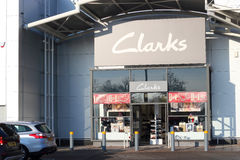 Clarks shoes store front. Royalty Free Stock Photos