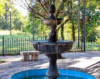 Fountain in a Public Park in Mississippi. royalty free stock images