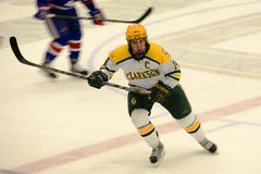 Clarkson #14 in NCAA Hockey Game Stock Photo