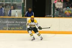 Clarkson #16 in NCAA Hockey Game Royalty Free Stock Photos