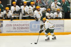 Clarkson Allan McPherson in NCAA Hockey Game Royalty Free Stock Photo