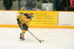Clarkson #27 in NCAA Hockey Game Royalty Free Stock Photos