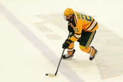 Clarkson #21 in NCAA Hockey Game Royalty Free Stock Image
