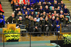 Clarkson University 2014 Graduation Ceremony Royalty Free Stock Image