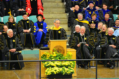 Clarkson University 2014 Graduation Ceremony. Clarkson University Honorary Degree Recipient Steven Chu (Recipient of the 1997 Nobel Prize for Physics) at 2014 Stock Photography