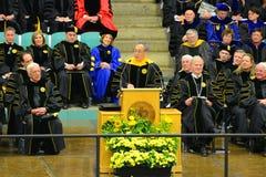 Clarkson University 2014 Graduation Ceremony. Clarkson University Honorary Degree Recipient Steven Chu (Recipient of the 1997 Nobel Prize for Physics) at 2014 Stock Photo