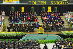 Clarkson University 2014 Graduation Ceremony. Clarkson University Honorary Degree Recipient Steven Chu (Recipient of the 1997 Nobel Prize for Physics) at 2014 Stock Image
