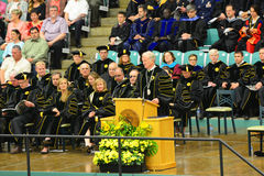 Clarkson University 2014 Graduation Ceremony Stock Photo