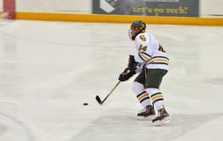 Clarkson University player in NCAA Hockey Game Stock Photo