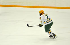 Clarkson University player in NCAA Hockey Game Stock Photo