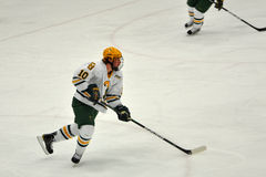Clarkson University player in NCAA Hockey Game Stock Photos