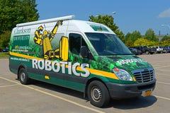 Clarkson University Robotics Van, Potsdam, NY, USA stock image