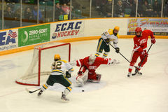 Clarkson vs Cornell NCAA Hockey Game Stock Photo