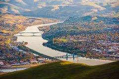Clarkston, Washington. United States. Snake River and the Cityscape During Spring Time Royalty Free Stock Image