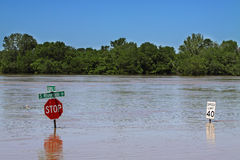Clarksville Tn Flooding 2010 Royalty Free Stock Photography