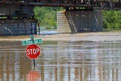 Clarksville Tn que inunda 2010 Fotografia de Stock Royalty Free