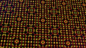 Claro animado shinning pontos vermelhos e amarelos e formas das estrelas ilustração royalty free