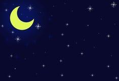 Claro de luna amarillo Foto de archivo libre de regalías