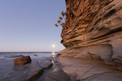 Claro de luna de la piedra arenisca fotografía de archivo libre de regalías