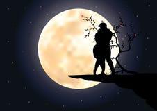Claro de luna romántico hermoso Graphhics del vector Foto de archivo