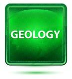 Claro de néon da geologia - botão quadrado verde ilustração royalty free