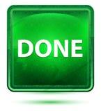 Claro de néon feito - botão quadrado verde ilustração royalty free