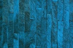 Claro envelhecido bonito - textura de pedra dos tijolos do quartzito natural azul para o uso do fundo fotografia de stock royalty free