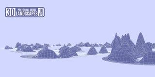 Claro - montanhas poligonais do teste padr?o roxo futuristas ilustração stock